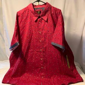 🆕 Lee Button Shirt W/Fish Skeleton Design Sz.3XL